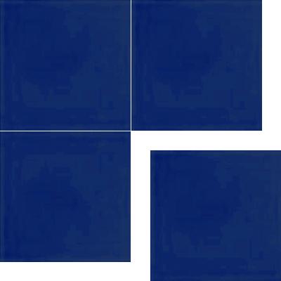 Моноцветная цементная плитка Luxemix формата 25x25см. Цвет 5002 (синий).