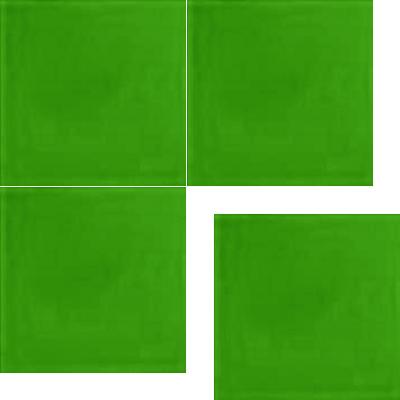 Моноцветная цементная плитка Luxemix формата 25x25см. Цвет 6018 (зеленый).