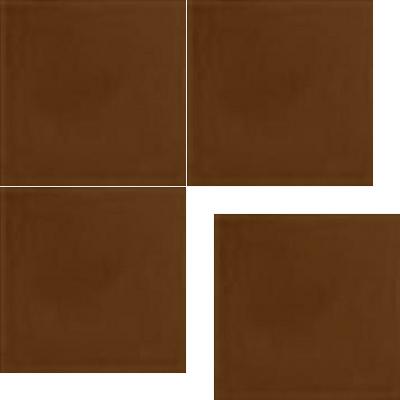 Моноцветная цементная плитка Luxemix формата 25x25см. Цвет 8002 (коричневый).