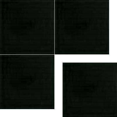Моноцветная цементная плитка Luxemix формата 25x25см. Цвет 9005 (черный).