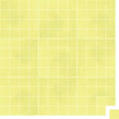 Моноцветная цементная плитка Luxemix формата 5x5см. Цвет 0959050 (желтый).