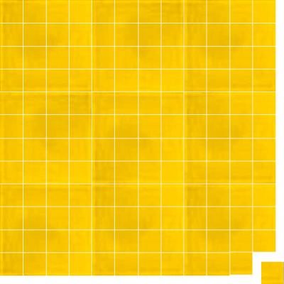 Моноцветная цементная плитка Luxemix формата 5x5см. Цвет 1023 (желтый).