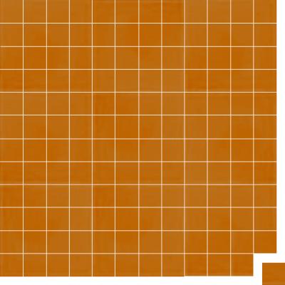 Моноцветная цементная плитка Luxemix формата 5x5см. Цвет 2000 (оранжевый).