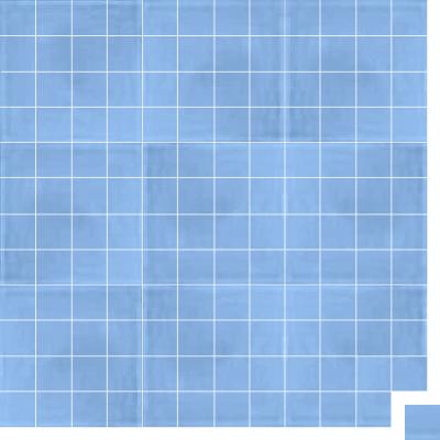Моноцветная цементная плитка Luxemix формата 5x5см. Цвет 2507030 (синий).