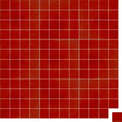 Моноцветная цементная плитка Luxemix формата 5x5см. Цвет 3020 (красный).