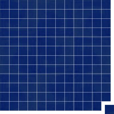 Моноцветная цементная плитка Luxemix формата 5x5см. Цвет 5002 (синий).