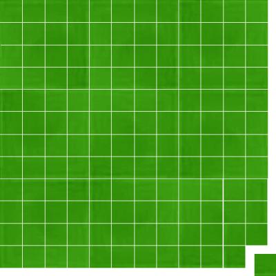 Моноцветная цементная плитка Luxemix формата 5x5см. Цвет 6018 (зеленый).