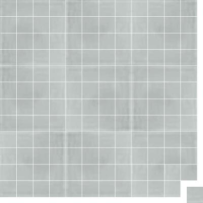 Моноцветная цементная плитка Luxemix формата 5x5см. Цвет 7035 (серый).