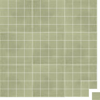 Моноцветная цементная плитка Luxemix формата 5x5см. Цвет 7044 (серый).