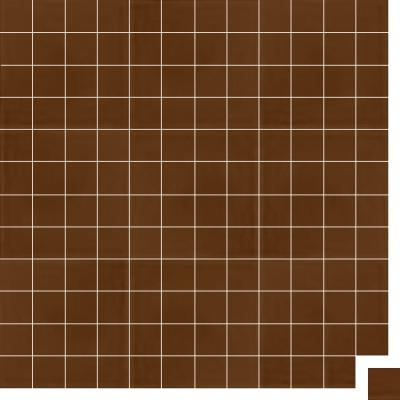 Моноцветная цементная плитка Luxemix формата 5x5см. Цвет 8002 (коричневый).