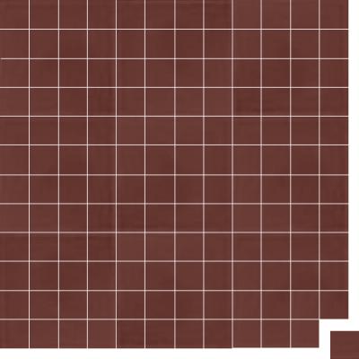 Моноцветная цементная плитка Luxemix формата 5x5см. Цвет 8012 (коричневый).