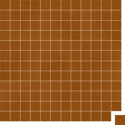 Моноцветная цементная плитка Luxemix формата 5x5см. Цвет 8023 (коричневый).