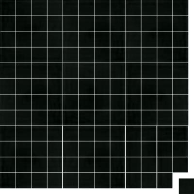 Моноцветная цементная плитка Luxemix формата 5x5см. Цвет 9005 (черный).