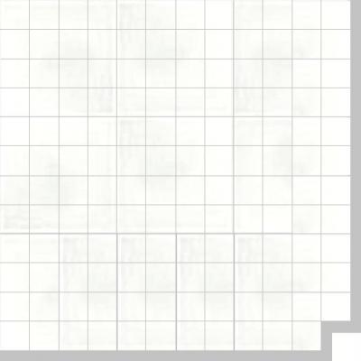 Моноцветная цементная плитка Luxemix формата 5x5см. Цвет 9016 (белый).