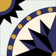 Цементная плитка ручной работы Luxemix с рисунком Солнце. Арт.: est_09c2Элитная цементная плитка ручной работы Luxemix. Арт.: est_09c2