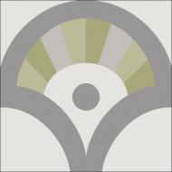 """Квадратная цементная плитка ручной работы от Luxemix с дизайнерским узором """"Ереванские фонтаны"""" (Yerevan fountains) от Екатерины Булгаковой."""
