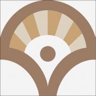 """Квадратная цементная плитка ручной работы от Luxemix с дизайнерским узором """"Ереванские фонтаны"""" (Yerevan fountains) от Екатерины Булгаковой"""