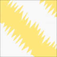 """Квадратная цементная плитка ручной работы от Luxemix с узором """"Пушистый пол"""" (ZigZag)."""