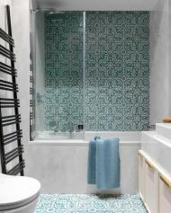 Ванная комната в этническом стиле.