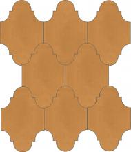 """Плитка Luxemix ручной работы в форме """"Фонарик"""". Цвет светло-коричневый, пудровый коричневый, бежево-коричневый ral  0606040"""