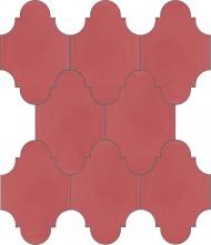 """Плитка Luxemix ручной работы в форме """"Фонарик"""". Цвет розовый, лососевый, розовый антик ral  3014"""