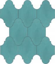 """Плитка Luxemix ручной работы в форме """"Фонарик"""". Цвет бирюзовый, цвет морской волны, пастельно-бирюзовый ral 6034"""