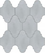 """Плитка Luxemix ручной работы в форме """"Фонарик"""". Цвет серый, светло-серый, телегрей ral 7047."""