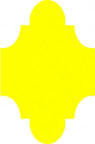 """Плитка Luxemix ручной работы в форме """"Фонарик"""". Цвет 1016"""