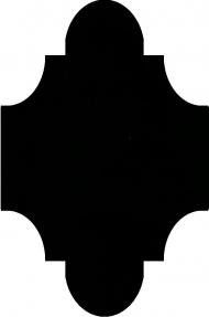 """Плитка Luxemix ручной работы в форме """"Фонарик"""". Цвет 9005"""