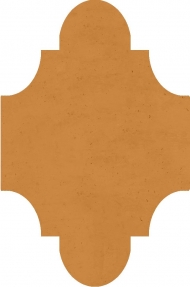 """Плитка Luxemix ручной работы в форме """"Фонарик"""". Цвет 0606040"""