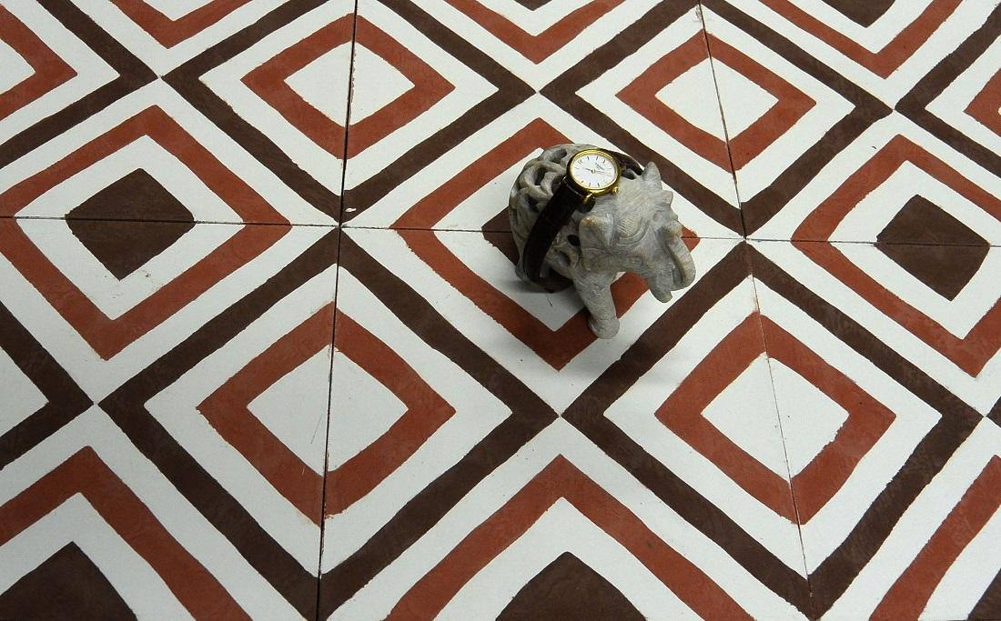 Цементная плитка Luxemix ручной работы артикула geo_04