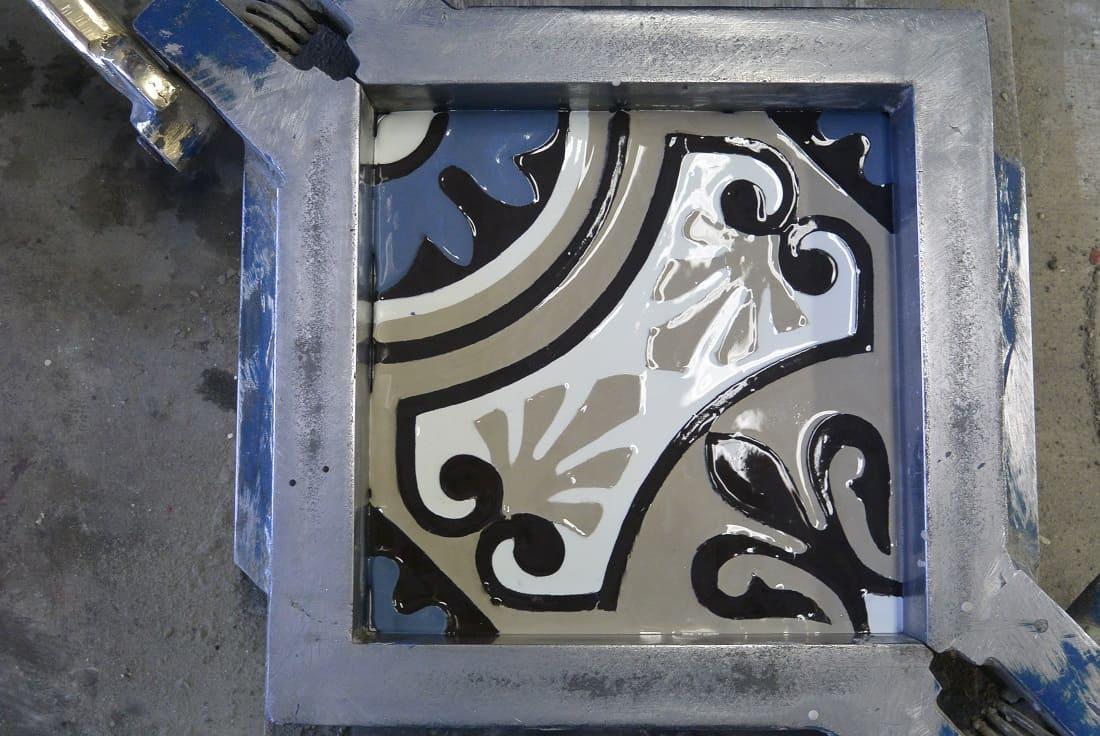 Узорный слой цементной краски -3-5 мм