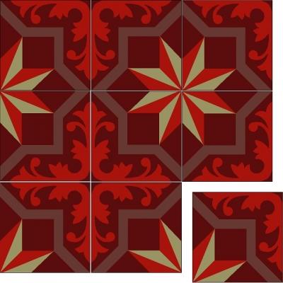 Цементная плитка Luxemix. Коллекция Estrellas. Арт.: est_08c1