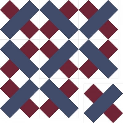 Цементная плитка ручной работы Luxemix. Коллекция Geometry. Арт.: geo_03c2