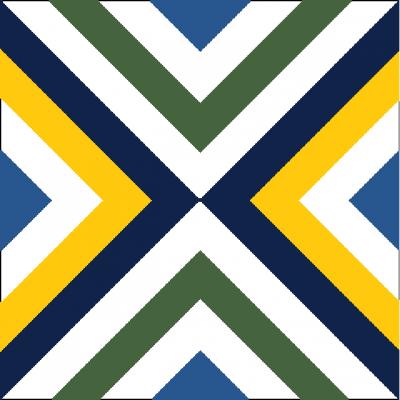 Цементная плитка ручной работы Luxemix. Коллекция Geometry. Арт.: geo_04