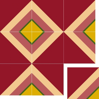 Цементная плитка ручной работы Luxemix. Коллекция Geometry. Арт.: geo_06