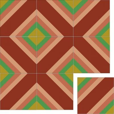 Цементная плитка - геометрическое панно