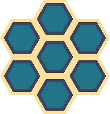"""Шестиугольная цементная плитка ручной работы от Luxemix с узором """"Honeycomb"""""""