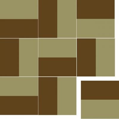 Квадратная цементная плитка ручной работы от Luxemix. Коллекция Simple. Арт.: sim_07