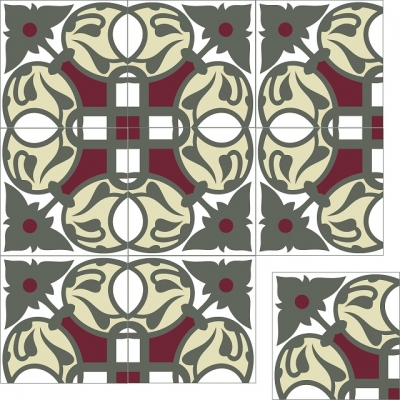 Цементная плитка Luxemix. Коллекция Vintage. Арт.: vin_09