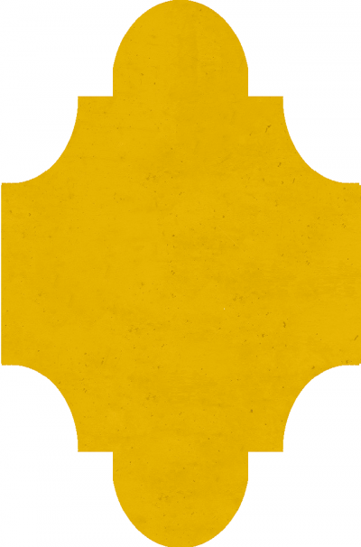 """Плитка Luxemix ручной работы в форме """"Фонарик"""". Цвет 1003."""
