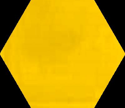 Однотонная шестиугольная плитка Luxemix ручной работы. Цвет 1023.