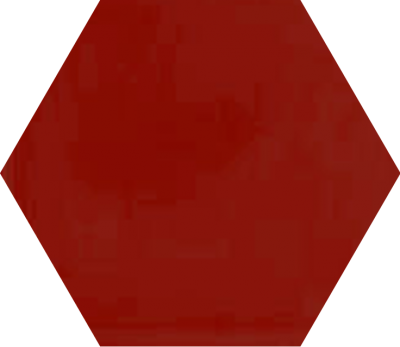 Однотонная шестиугольная плитка Luxemix ручной работы. Цвет 3000