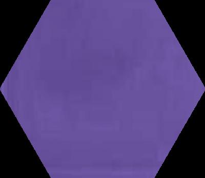 Однотонная шестиугольная плитка Luxemix ручной работы. Цвет 4005
