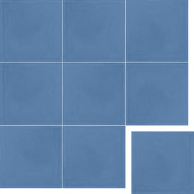 однотонная цементная плитка
