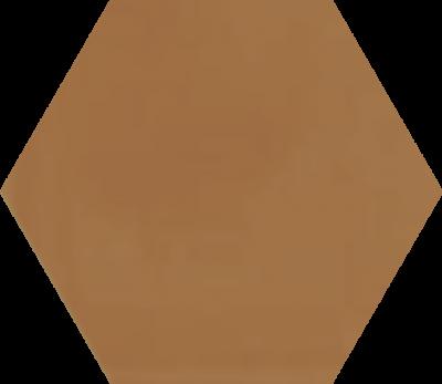 Однотонная шестиугольная плитка Luxemix ручной работы. Цвет 0605040