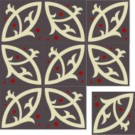 Панно из цементной плитки
