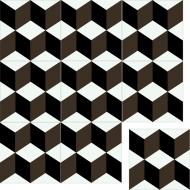 """Квадратная цементная плитка ручной работы от Luxemix с узором """"Кубики"""" (Cube, 3D)"""