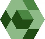 """Шестиугольная цементная плитка ручной работы от Luxemix с узором """"Starcube"""""""