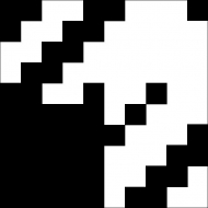 """Квадратная цементная плитка ручной работы от Luxemix с дизайнерским узором """"Гусиная лапка"""" (Houndstooth) by Yana Volkova (Яна Волкова)."""